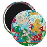"Happy Holidays 2.25"" Magnet (100 pack)"