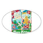 Happy Holidays Sticker (Oval 10 pk)