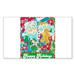 Happy Holidays Sticker (Rectangle 10 pk)