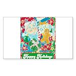 Happy Holidays Sticker (Rectangle 10 pk)