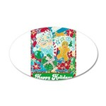 Happy Holidays 20x12 Oval Wall Decal