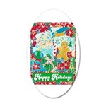 Happy Holidays 35x21 Oval Wall Decal