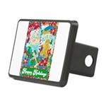 Happy Holidays Rectangular Hitch Cover
