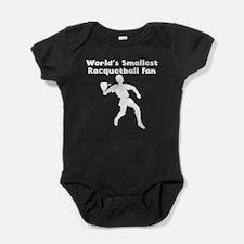 Worlds Smallest Racquetball Fan Baby Bodysuit