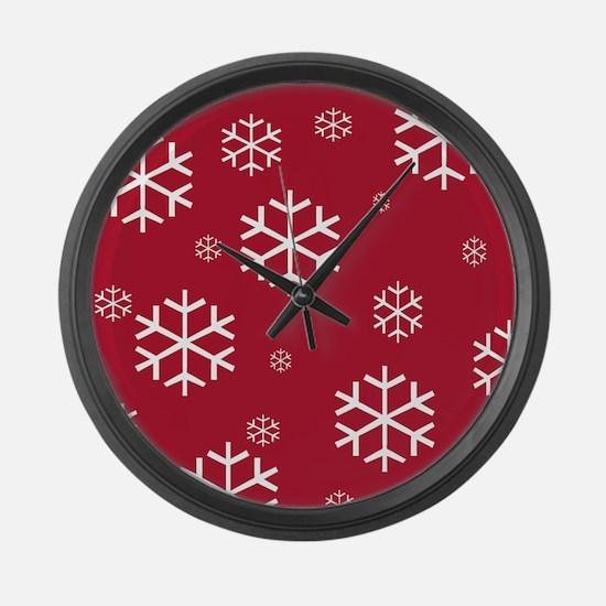 Christmas Snowflake on Reg Large Wall Clock