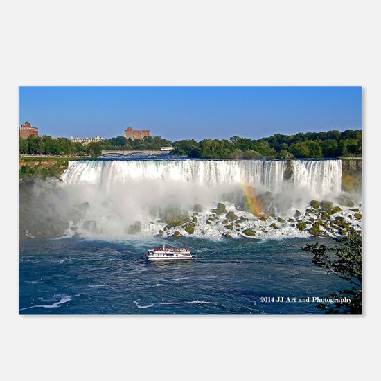 American Falls And Boat Postcards (package Of 8)