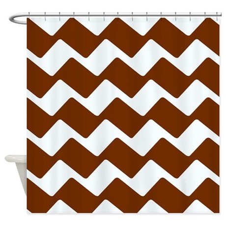 Cocoa Brown Chevron Zags Shower Curtain By Chevroncitypart2