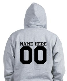 Personalize A Football Mom Or Dad Zip Hoodie