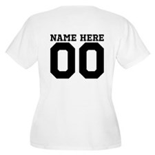 Personalize A Football Mom Plus Size T-Shirt