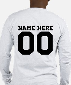 Personalize A Football Dad Long Sleeve T-Shirt