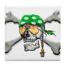Scull and Cross Bones Tile Coaster