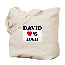David loves dad Tote Bag