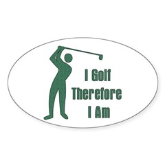 Gift for Golfing Dad Oval Decal