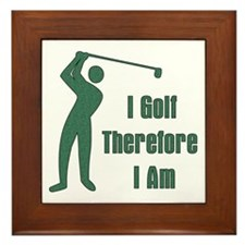 Gift for Golfing Dad Framed Tile
