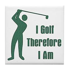 Gift for Golfing Dad Tile Coaster