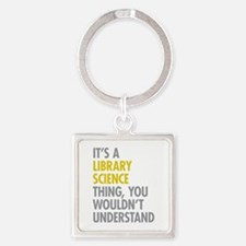 Library Science Thing Square Keychain