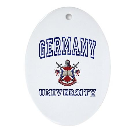 GERMANY University Oval Ornament