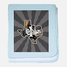 Texas Guitar #2 baby blanket