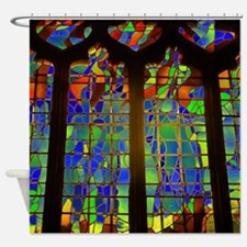 Technicolor Stained Glass Shower Curtain