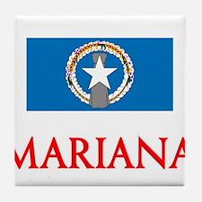 Mariana Flag Design Tile Coaster