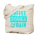 Coffee rain and books Canvas Totes