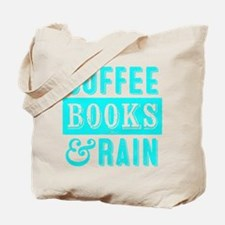 Coffee Books and Rain Tote Bag