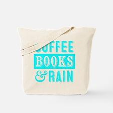 Coffee Books and Rain Tote Bag