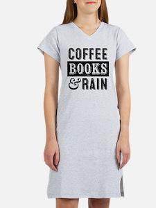 Coffee Books and Rain Women's Nightshirt