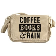Coffee Books and Rain Messenger Bag