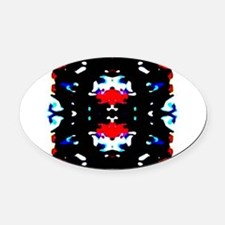 Virtue of a Force Oval Car Magnet