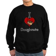 I love-heart doughnuts Sweatshirt