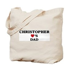 Christopher loves dad Tote Bag