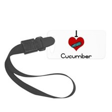 I love-heart cucumber Luggage Tag