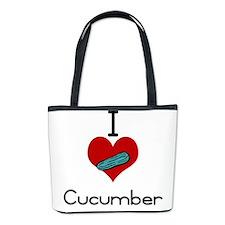 I love-heart cucumber Bucket Bag