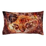 Wood Cat Pillow Case