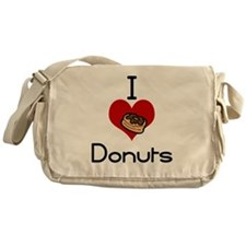 I love-heart donuts Messenger Bag
