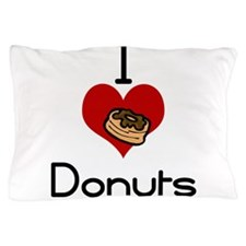 I love-heart donuts Pillow Case