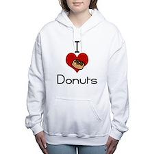 I love-heart donuts Women's Hooded Sweatshirt