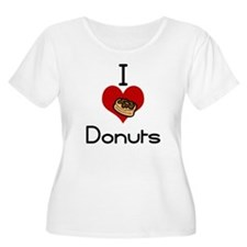 I love-heart donuts Plus Size T-Shirt