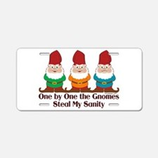 One By One The Gnomes Aluminum License Plate