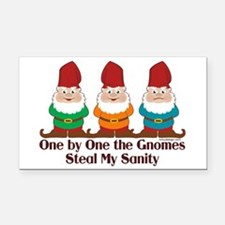 One By One The Gnomes Rectangle Car Magnet