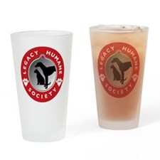 LHS Red  Drinking Glass