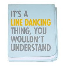 Line Dancing Thing baby blanket