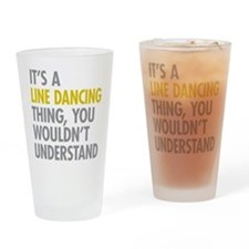 Line Dancing Thing Drinking Glass