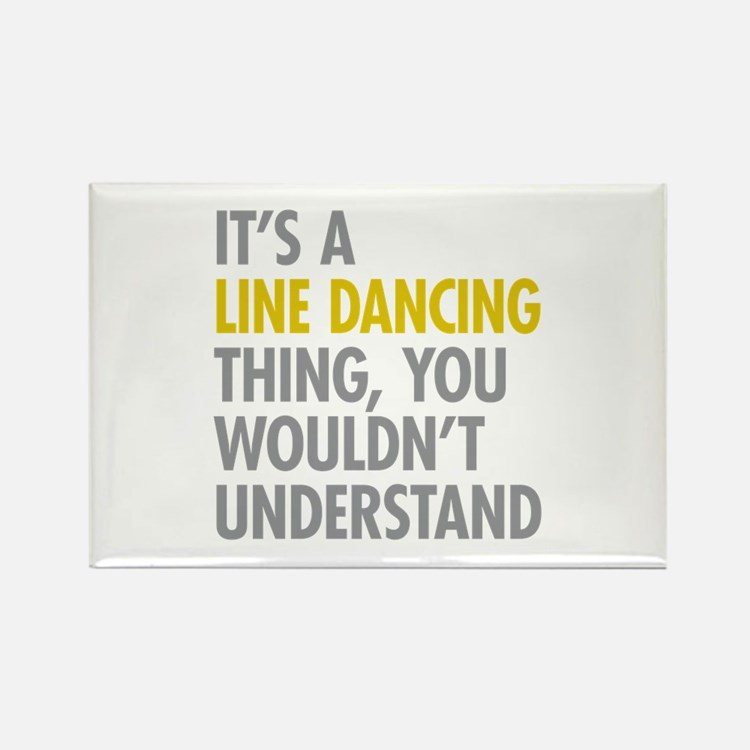 Line Dancing Thing Rectangle Magnet (10 pack)