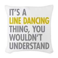 Line Dancing Thing Woven Throw Pillow