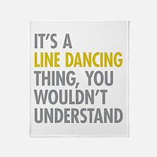 Line Dancing Thing Throw Blanket