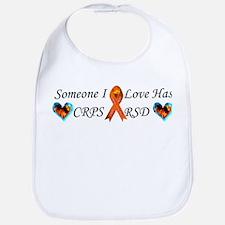 Someone I Love Has CRPS RSD Ribbon 3 x10 Car M Bib