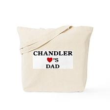 Chandler loves dad Tote Bag