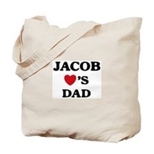 Jacob loves dad Tote Bag